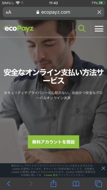 エコペイズのトップページ画像。