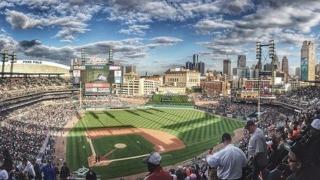 野球場の画像。