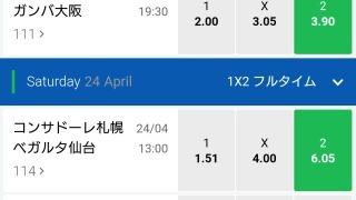 10BET JAPANサッカーJリーグオッズリスト